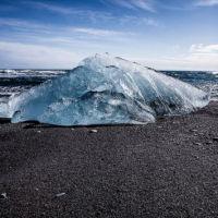 Large Iceberg washed up onto beach