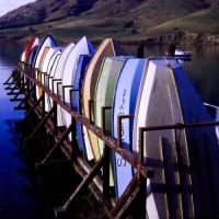 Boat Stack, Purau, Lyttelton Harbour Basin, New Zealand