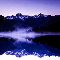 Lake Matheson at Daybreak