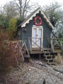 Beach hut.