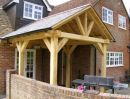 Oak framed porch.