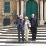 In the company of architect Mario Botta and Mrs Botta
