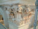 Decorative capital being restored, Zebbug parish church