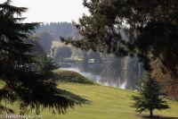Brocket Hall golf course across the lake
