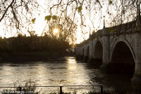 Sunset at bridge Richmond upon Thames