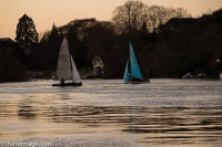 Sailing on the Thames when the tides in 2