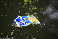 Juice packet in the canal