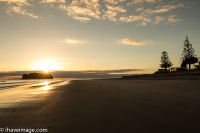 Sunrise at Whangamata beach