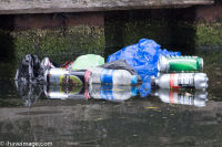 Bottles, Cans and carrier bags in the canal