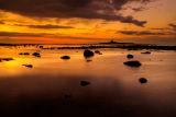 Coquet Island at sunset
