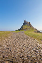 Path to Lindisfarne Castle