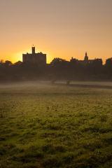 Warkworth Castle Autumn Mist