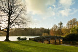 Sun setting, Stourhead (not for sale)