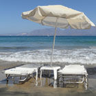 Sunloungers and Parasol, Crete