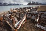 Spitsbergen coal mining remains