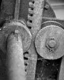 Rusty Gears in Black and White