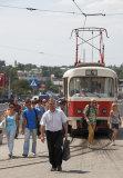 Tram & communters