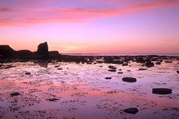 Sunset colours at Saltwick Bay