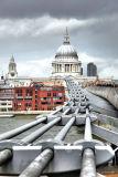 St Paul's Cathderal and the Millenium Bridge, London