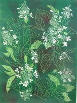 Hydrangea - linoprint