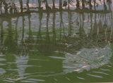 Reflections - linoprint